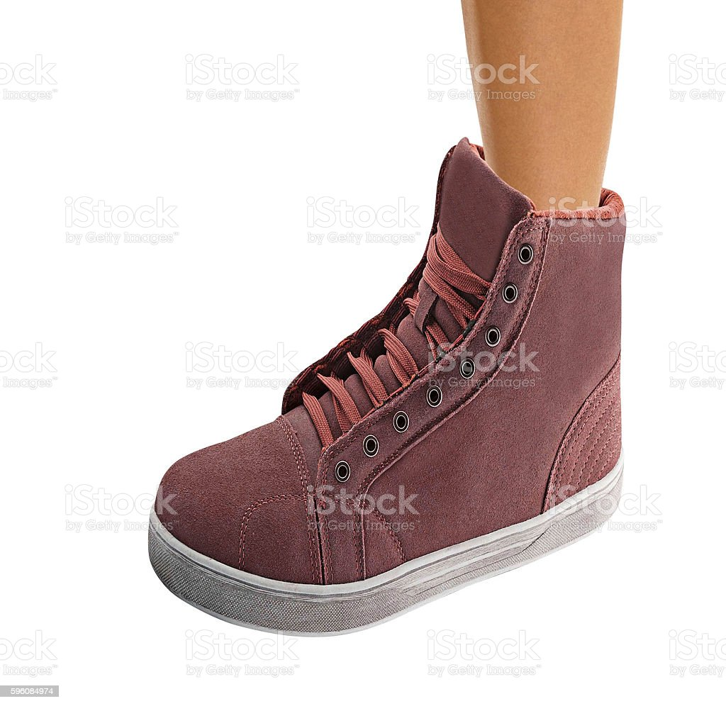 Female leg in a shoe, royalty-free stock photo