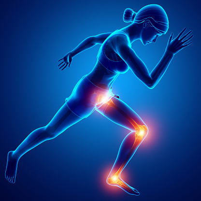 Female Leg Joint Pain Stock Photo - Download Image Now ...