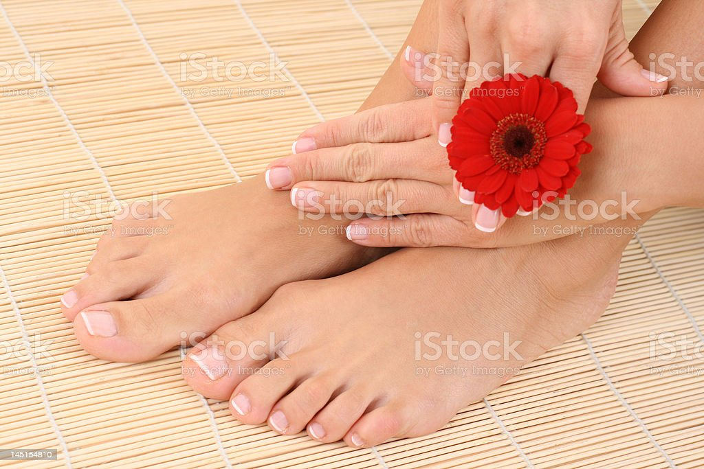 female legs and hands royalty-free stock photo