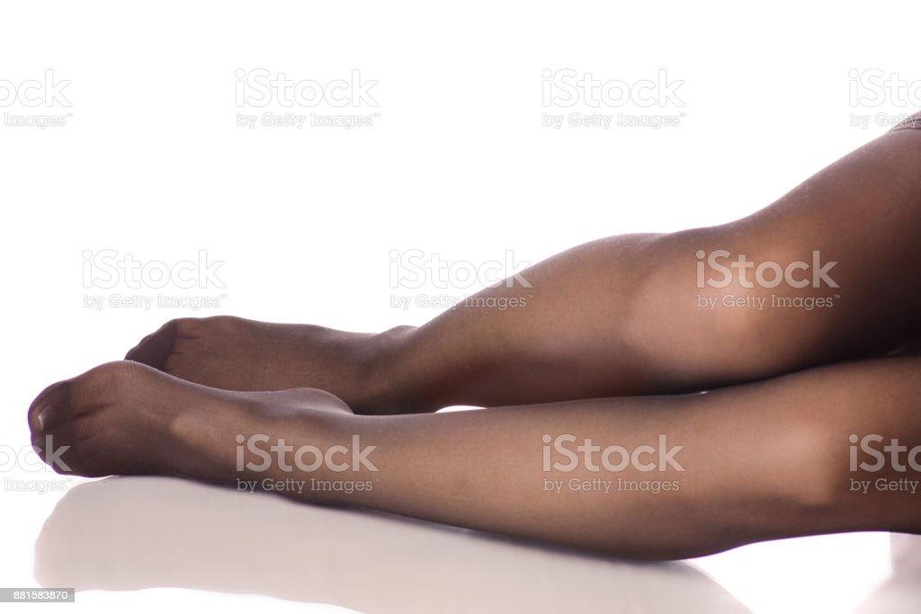 Weibliche Beine Nylons Strumpfhosen – Foto