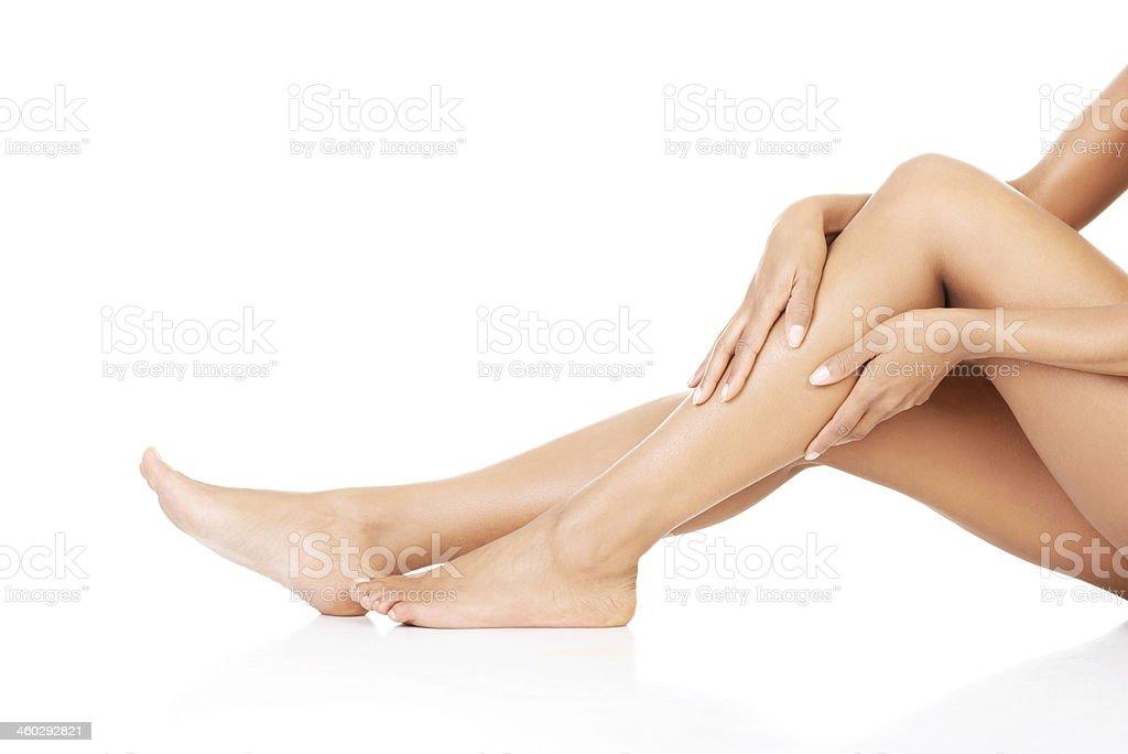 Female legs. Closeup.Bodypart. stock photo