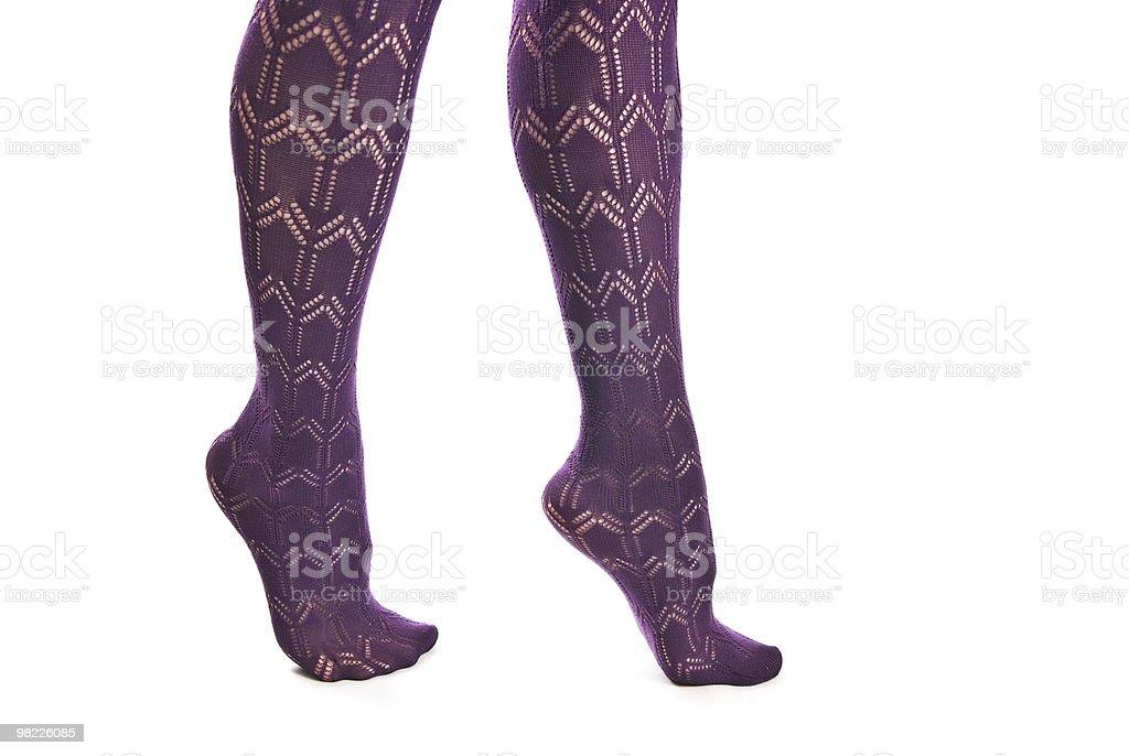 Gambe femminile in Collant foto stock royalty-free