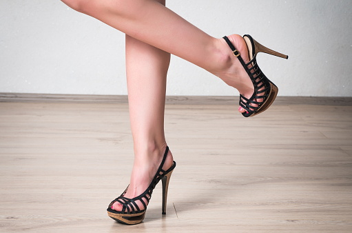 Female Legs With The Shoes Stock Photo - Download Image Now