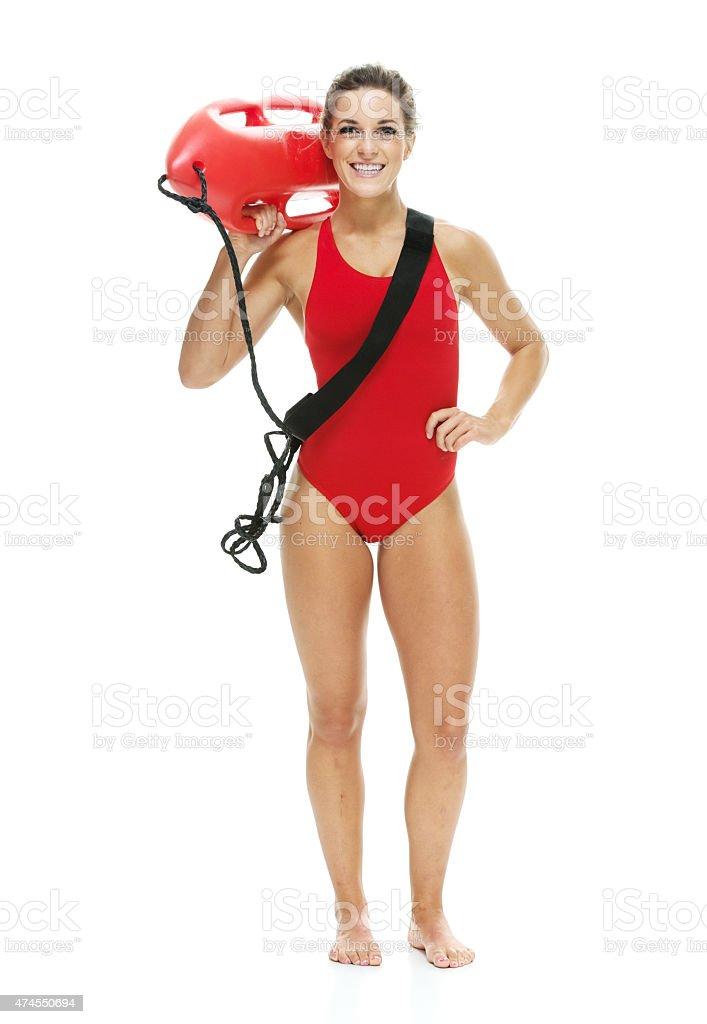 Female lifeguard stock photo