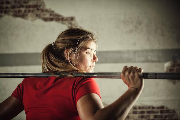 female lifter stock photo