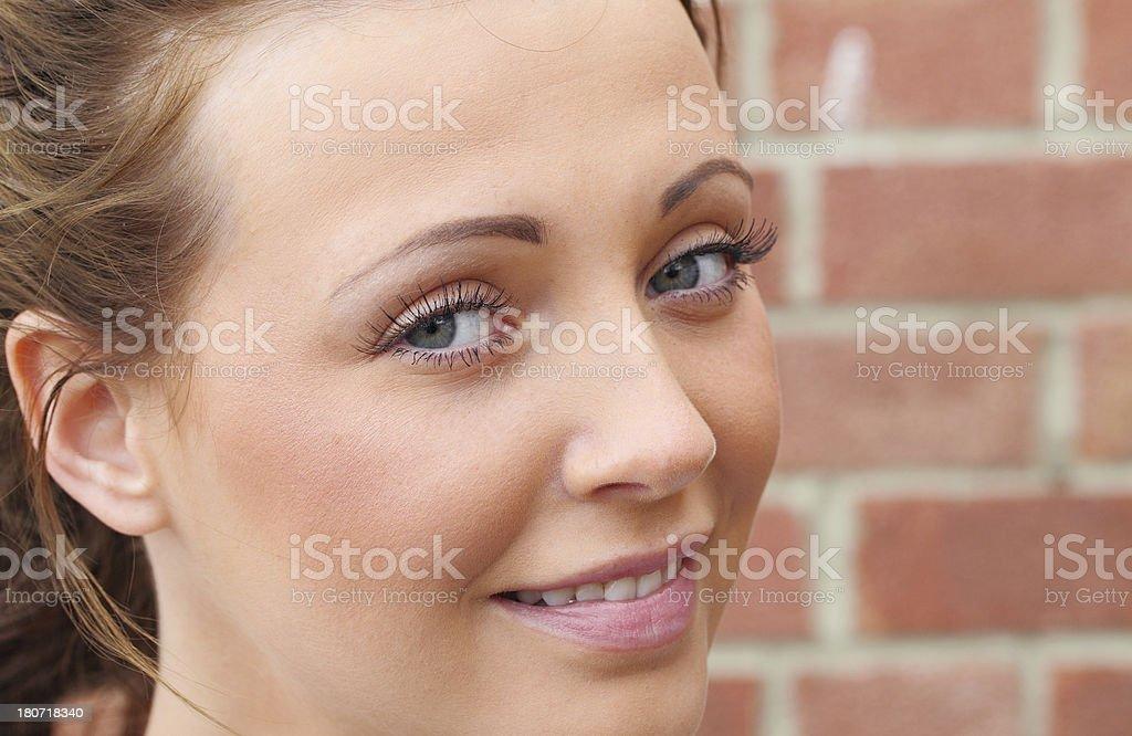 female macro headshot royalty-free stock photo