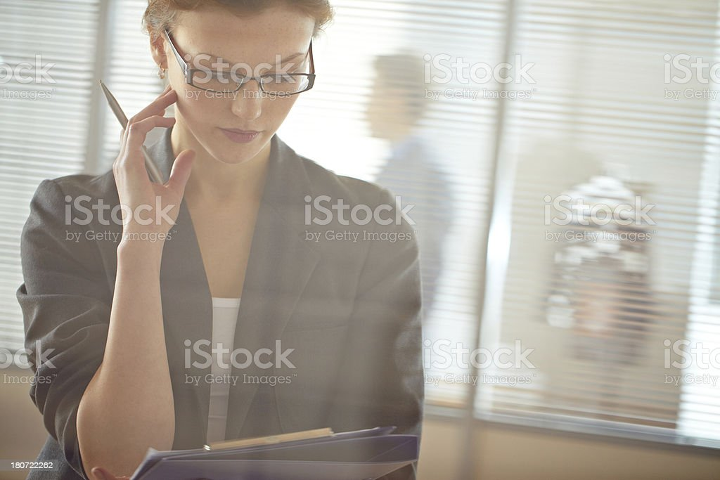 Female manager royalty-free stock photo