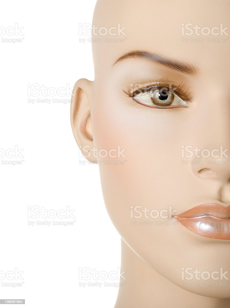Female mannequin face | Isolated stock photo