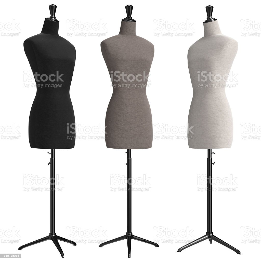 Female mannequins retro style stock photo