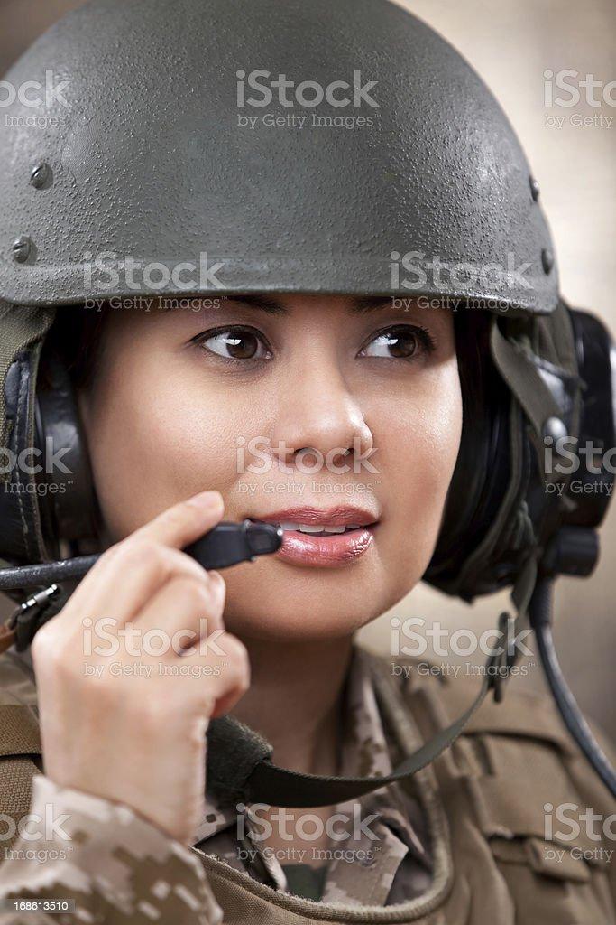 Female Marines Tanker Portrait stock photo