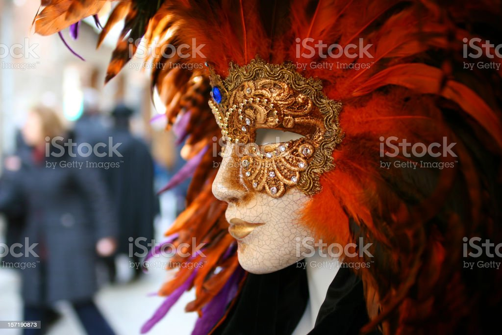 Female mask at carnival royalty-free stock photo