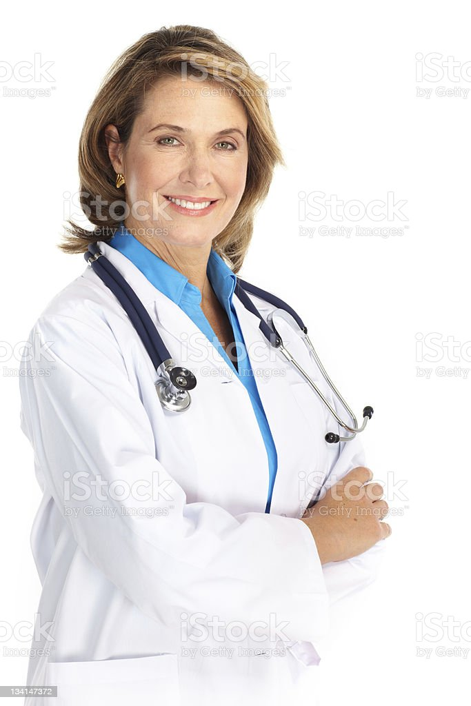 Female medical doctor with stethoscope royalty-free stock photo