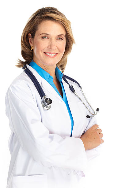 Weibliche Medizin Arzt mit Stethoskop – Foto