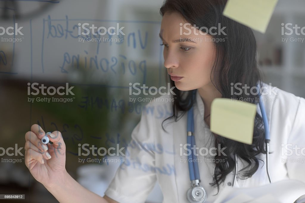Female medical doctor working stock photo