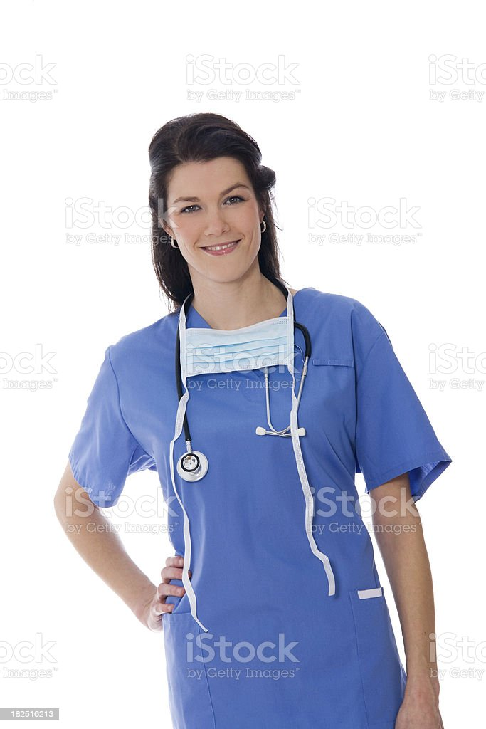 Female Medical Professional Doctor or Nurse royalty-free stock photo