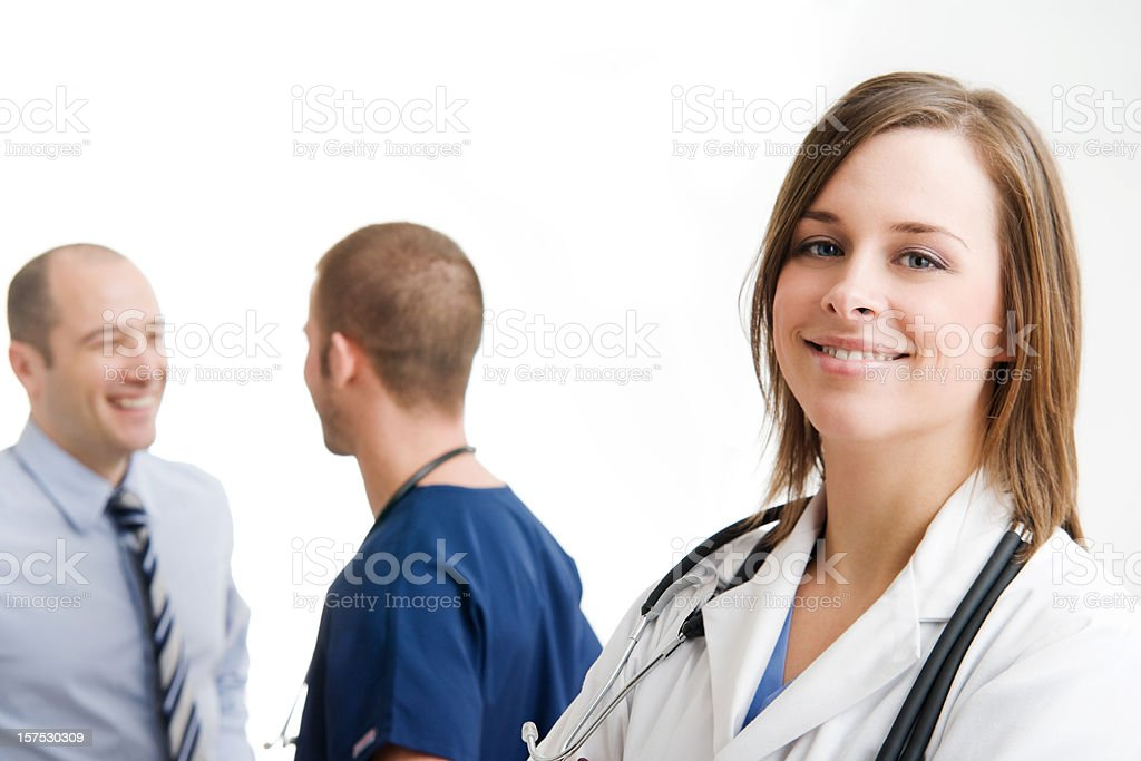 Female Medical Professional With Team royalty-free stock photo
