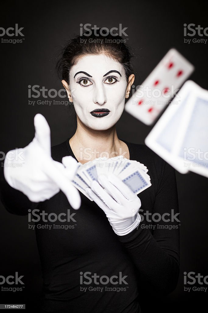 Female mime performer royalty-free stock photo