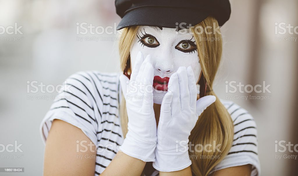 Female Mime royalty-free stock photo