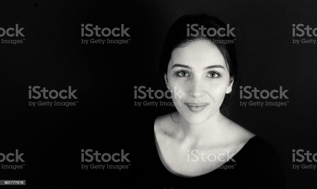 weibliches Model shooting im studio – Foto