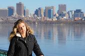 istock Female Model Urban/City Skyline 535226503