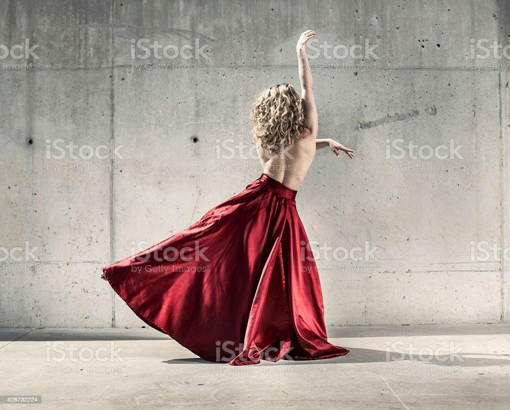 Female modern dancer stock photo