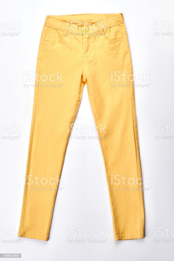 Mujer Pantalones Amarillo Moderno Aislados Foto De Stock Y Mas Banco De Imagenes De A La Moda Istock