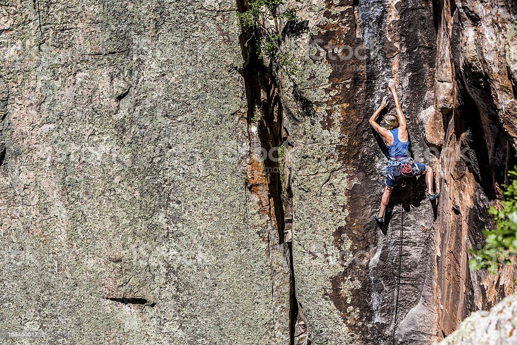 Female rock climber. — Stock Photo © gregepperson #5940817