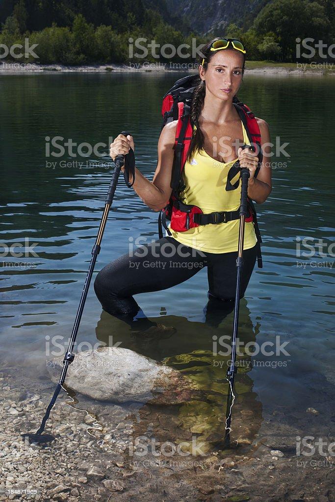 Female Mountain Hiker royalty-free stock photo