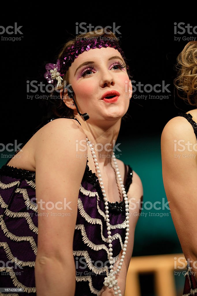 Female Musical Performer royalty-free stock photo