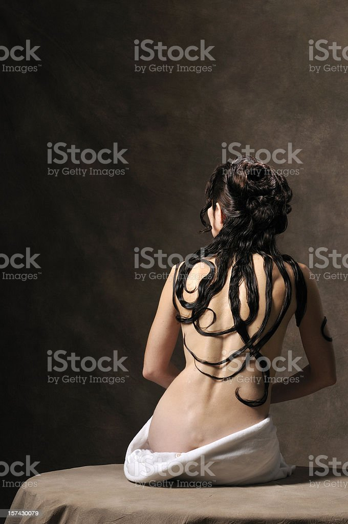 Female nude royalty-free stock photo