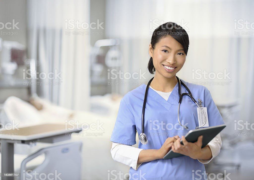Female nurse working stock photo