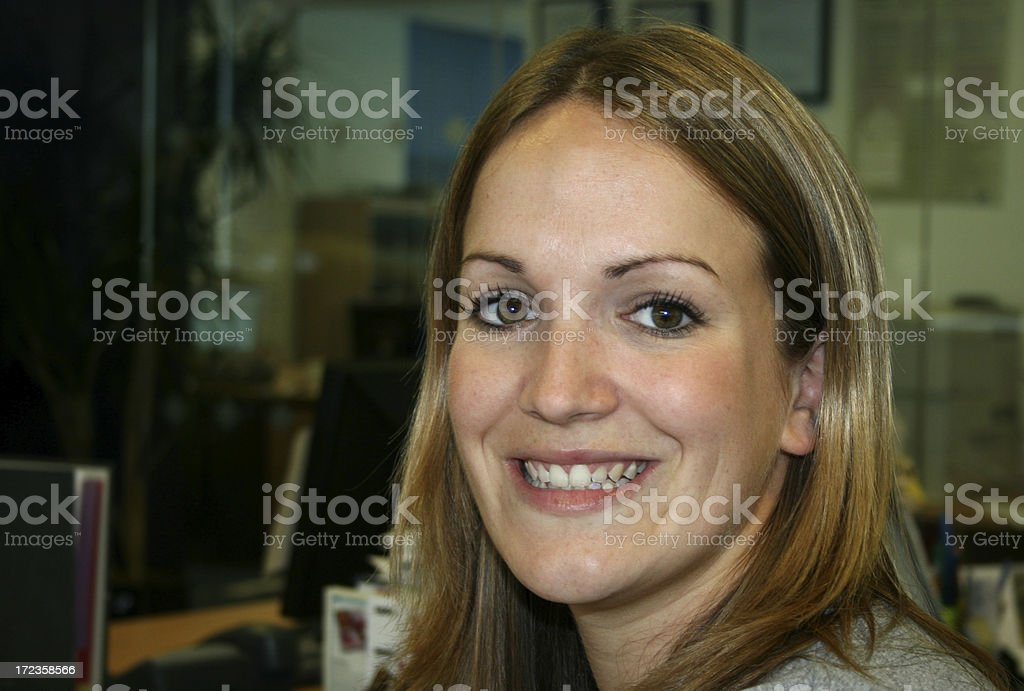 Female office worker royalty-free stock photo