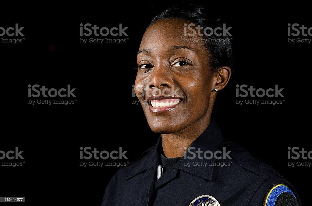Female officer stock photo