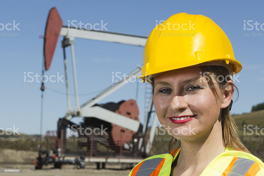 Female Oil Worker royalty-free stock photo