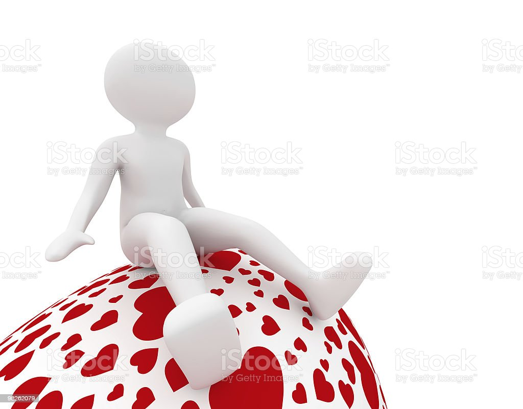female on easter egg in hearts royalty-free stock photo