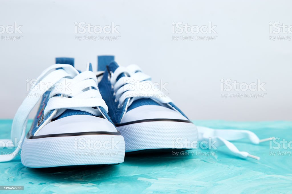 Female or male sneakers shoes royalty-free stock photo