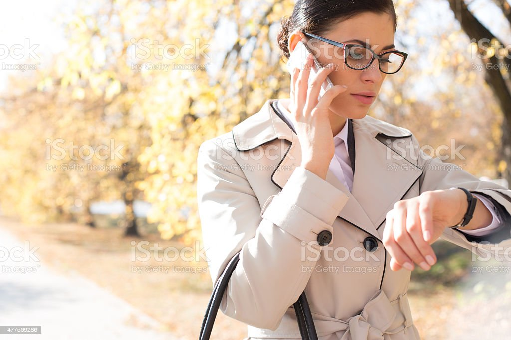 Female Outdoor Business stock photo