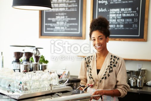 istock Female Owner In Coffee Shop 466446297