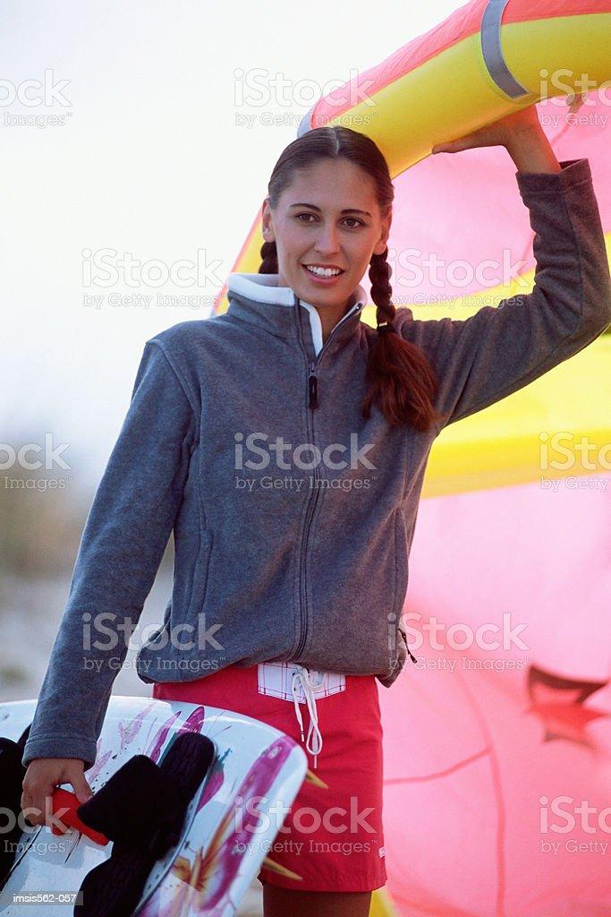 Female parasurfer royalty-free 스톡 사진