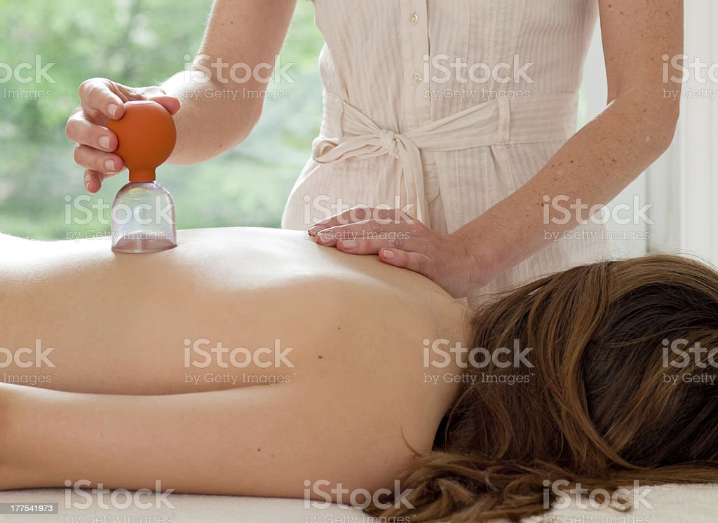 Female patient at the alternative practitioner stock photo