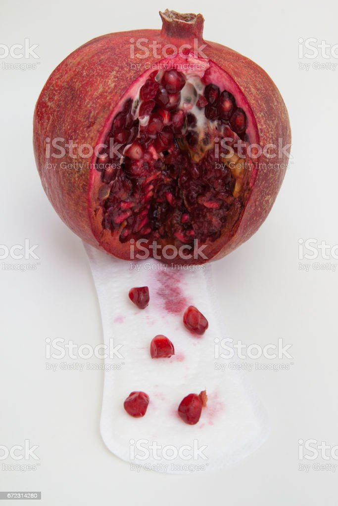 Female period, regular cycle. Bleeding vagina. stock photo