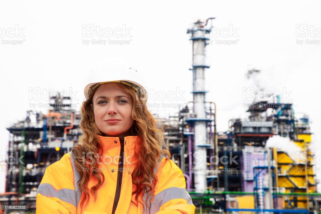 Vrouwelijke petrochemische inspecteur - Royalty-free 30-39 jaar Stockfoto
