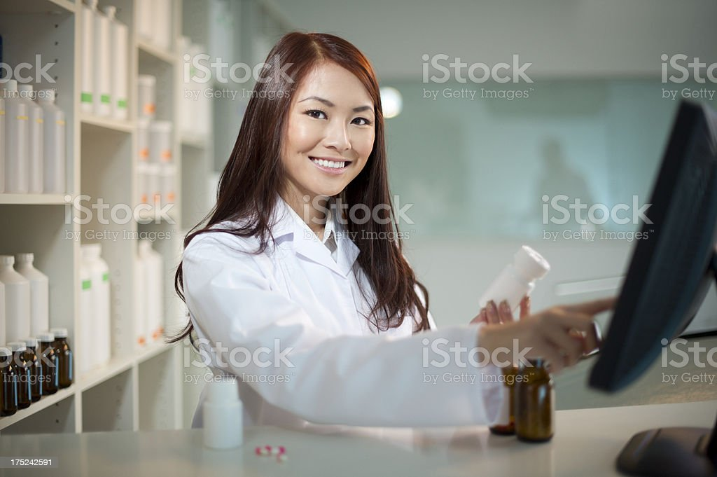 female pharmacist royalty-free stock photo