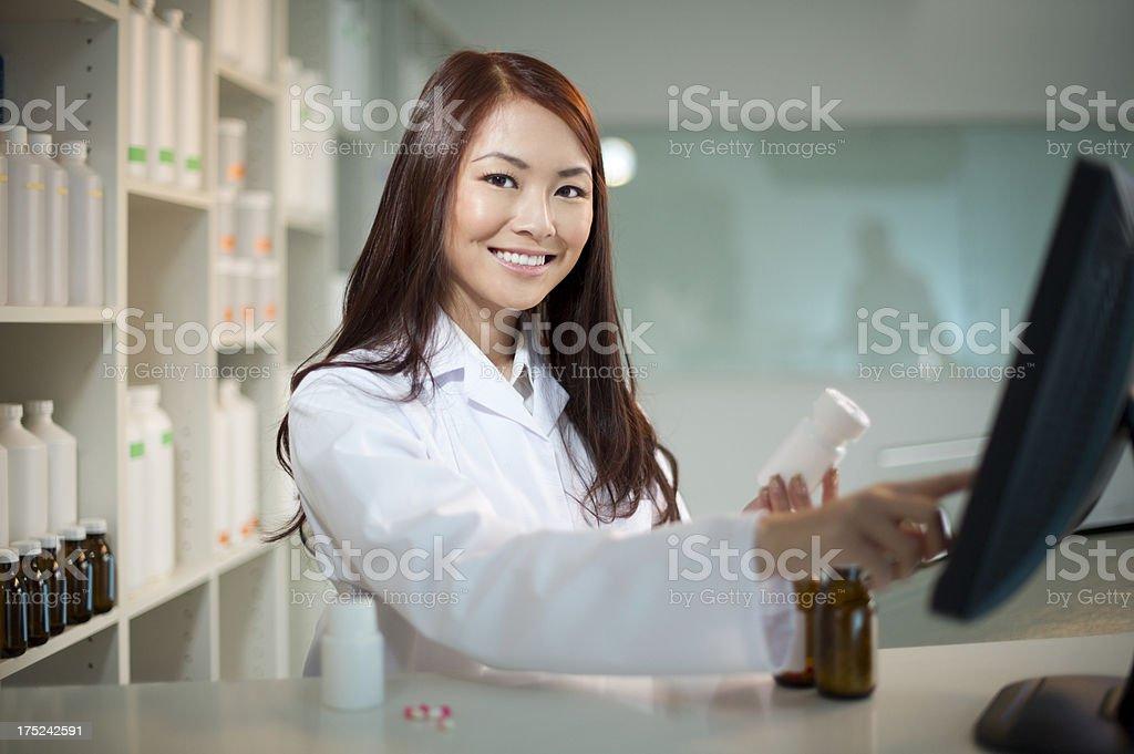 female pharmacist stock photo