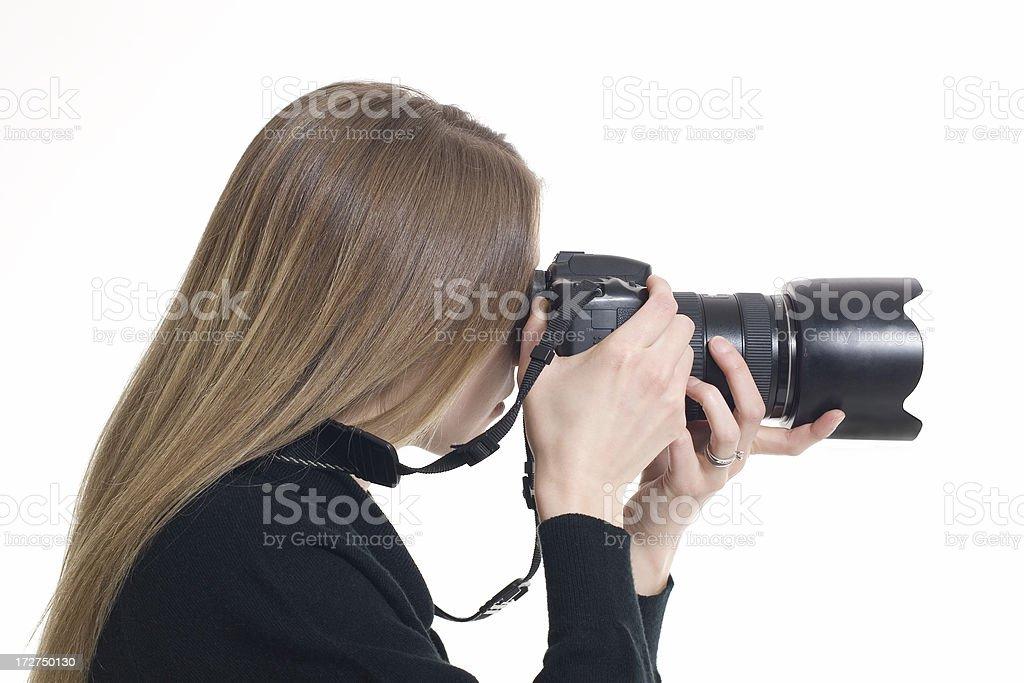 Female Photographer royalty-free stock photo