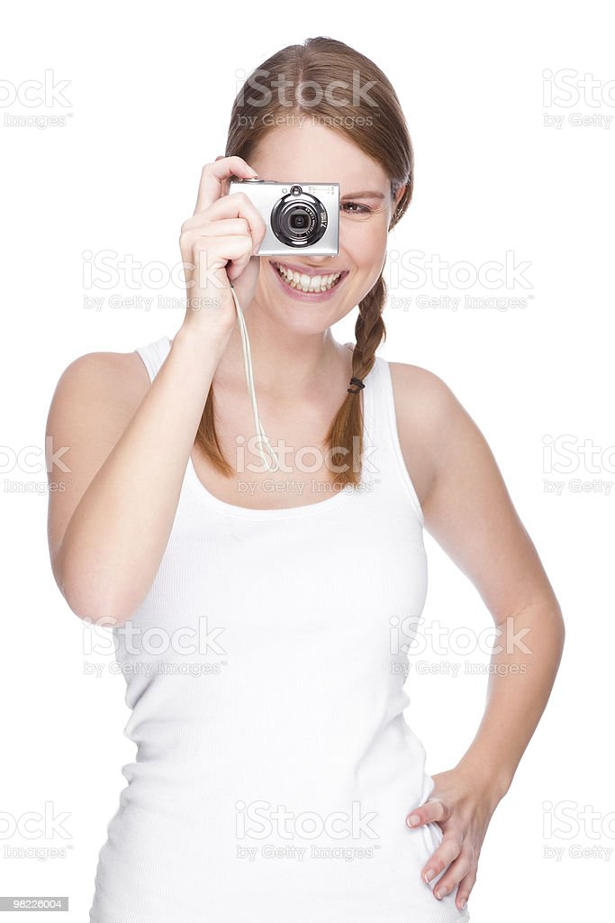 Femmina Fotografo foto stock royalty-free