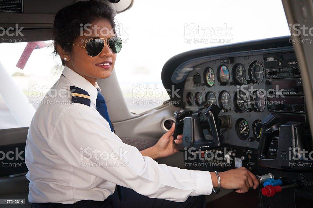 Female Pilot stock photo