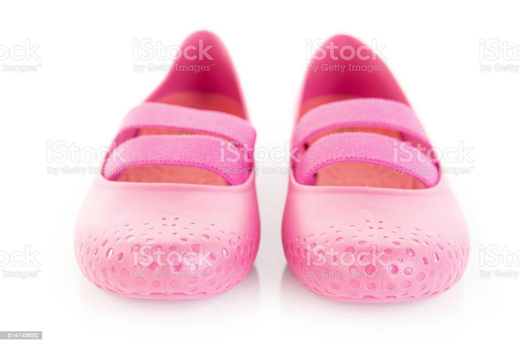 Female Pink rubber sandals - foto de acervo