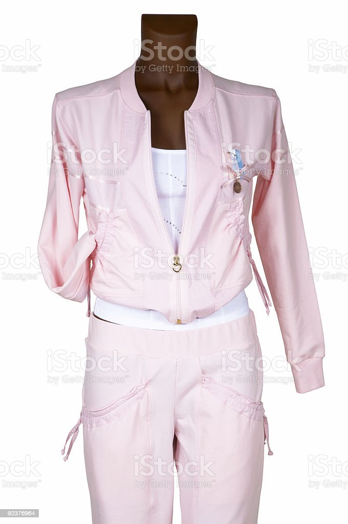 Female pink tracksuit royalty-free stock photo