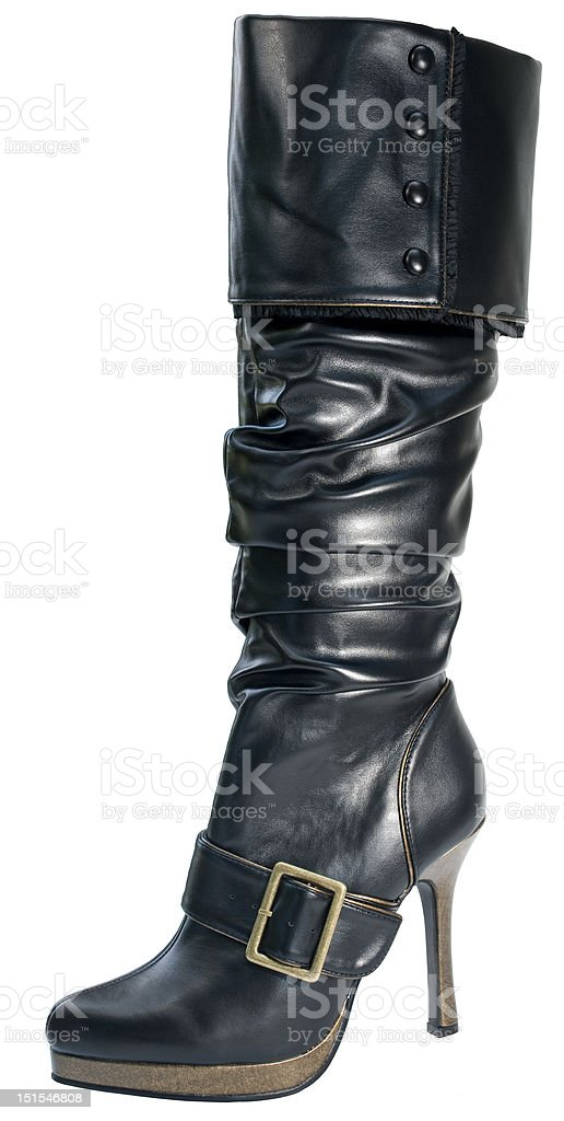 Female pirate boot stock photo